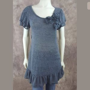 Anthropologie Blue Bird Sweater Dress MD Babydoll